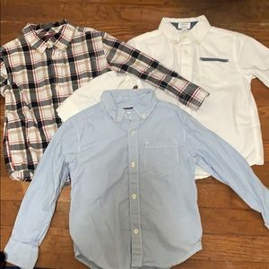 Lot of 3 Button-down collar long sleeve 3T